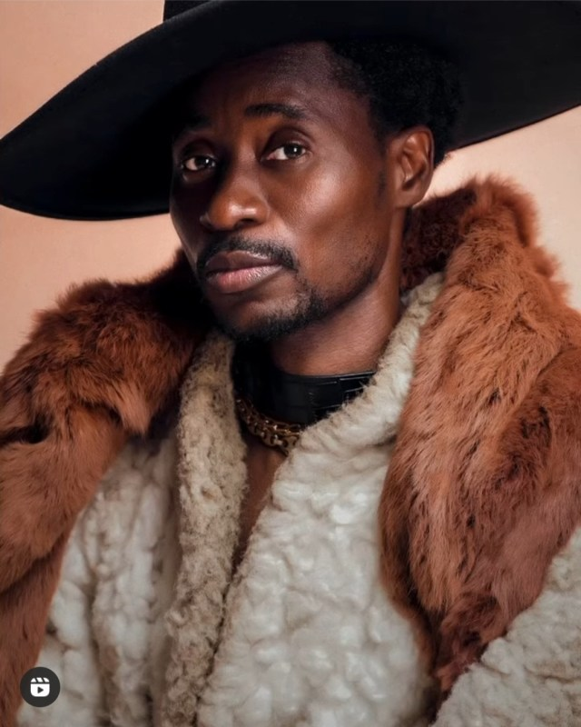 Bisi Alimi pushes the envelope as he strips down in new photos