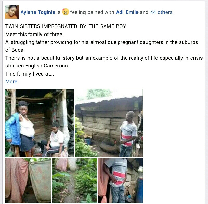 16-year-old twin sisters impregnated by same boy in Cameroon