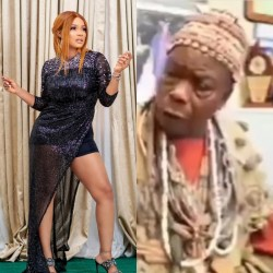 """Iyabo Ojo speaks as elderly man grants interview calling her a prostitute and saying she will """"suffer and die"""" for """"tarnishing"""" Baba Ijesha's image"""