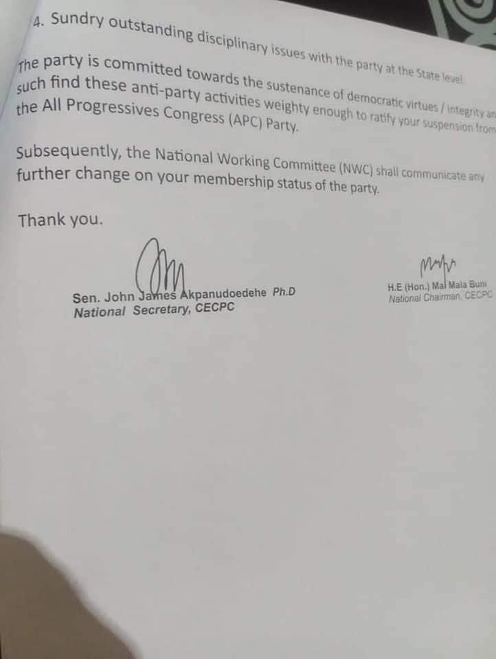 APC suspends Rochas Okorocha over alleged