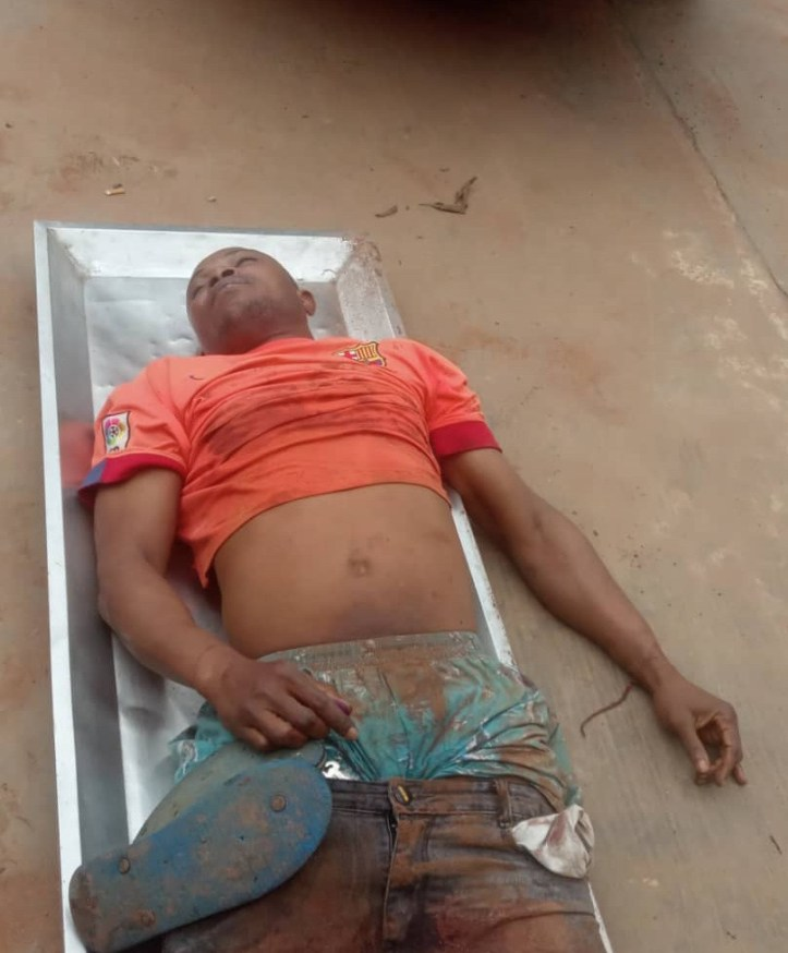 Armed robbery suspect shot dead while robbing people along the highway in Ogun