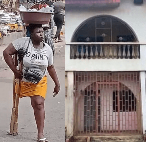 Viral Lagos amputee hawker acquires N17.5m house in Lagos; now constructing pure water factory (photo)