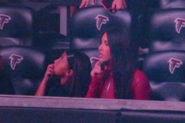Kim Kardashian attends Kanye West?s? album event with their kids & sister Khloe to support him despite divorce (Photos)