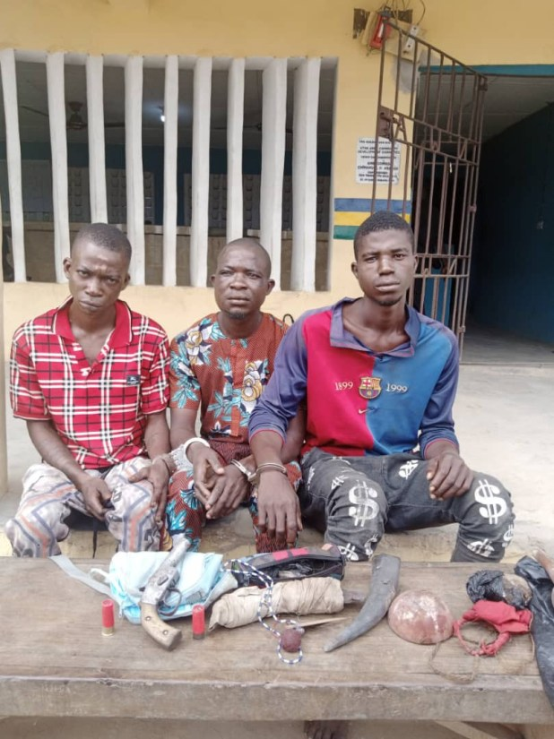 Three arrested for robbing a provision shop in Ogun