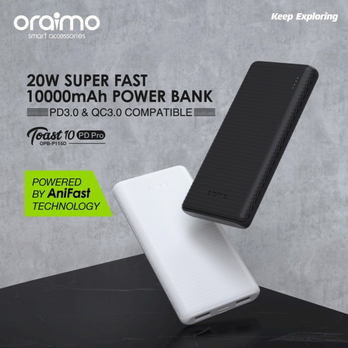 Oraimo Toast PD Pro: How your Phone will go from 0-60% in 30 Minutes with new fast charge technology