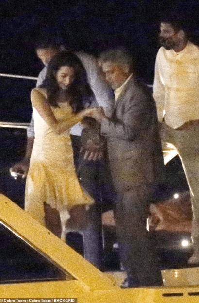 George Clooney and wife, Amal,