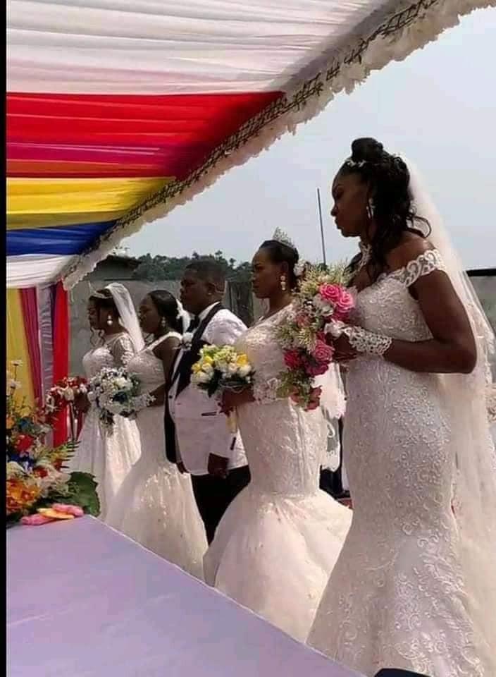 Gabonese man marries four women at same time