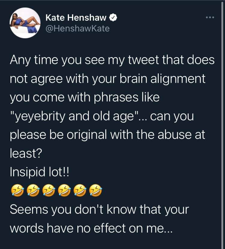 You are heaping curses on your head - Kate Henshaw tells those age-shaming her