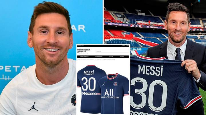 Lionel Messi's PSG shirt sold out in 30 minutes after officially signing for French club