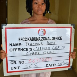 Cyber Crime: Young Lady Arrested By EFCC See What She Did