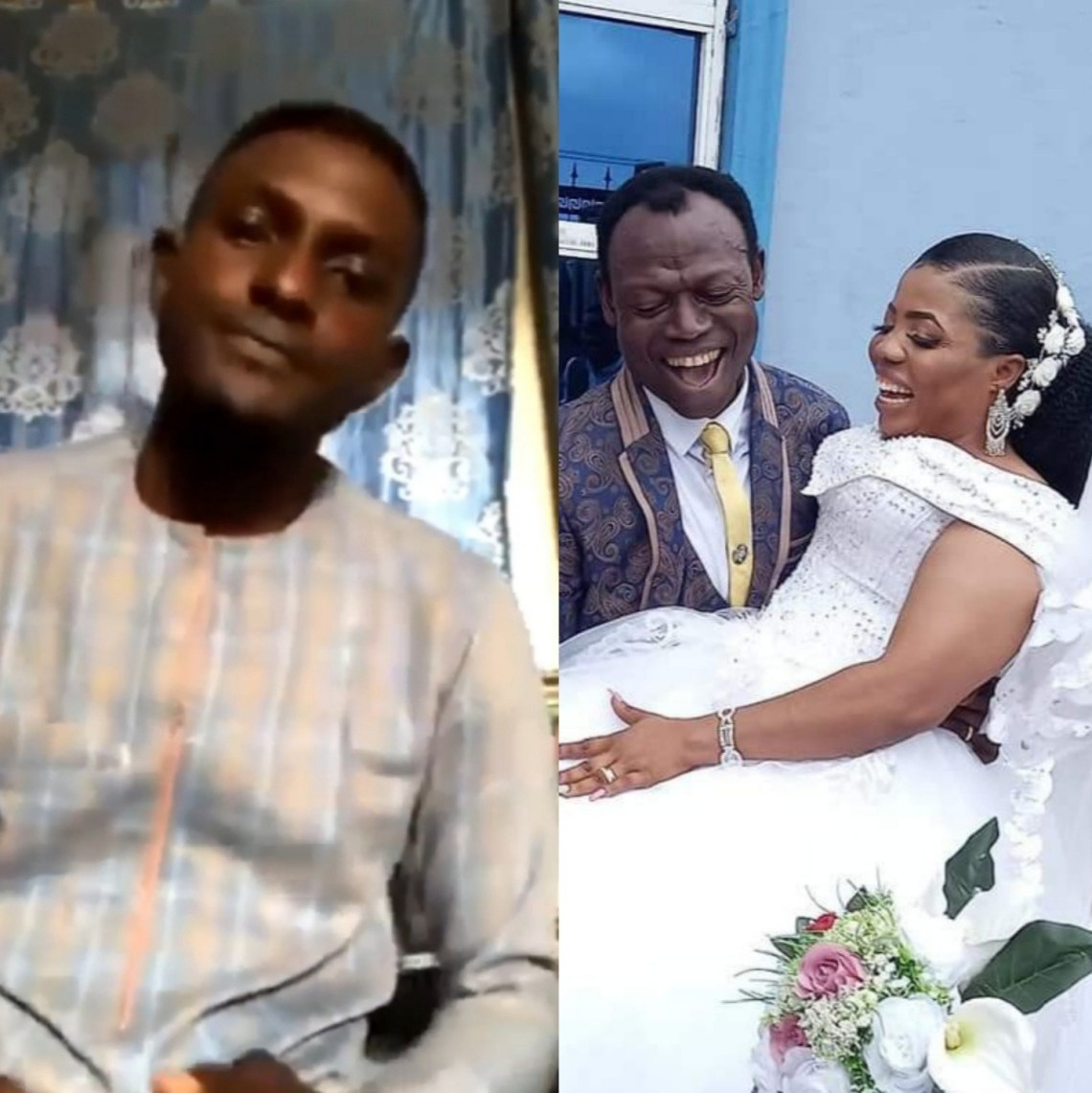 """""""I was shocked when I saw the wedding pictures online"""" son of pastor who married his member"""
