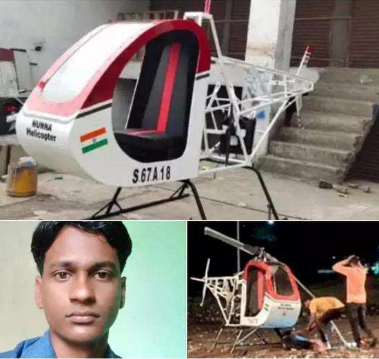 Man dies while testing his helicopter as rotor blade slashes his neck