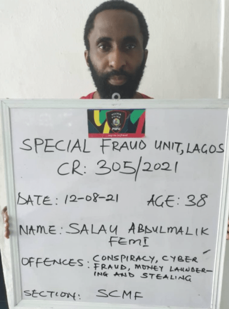 Man arrested for allegedly hacking into the server of a Nigerian bank and moving N1.87 billion
