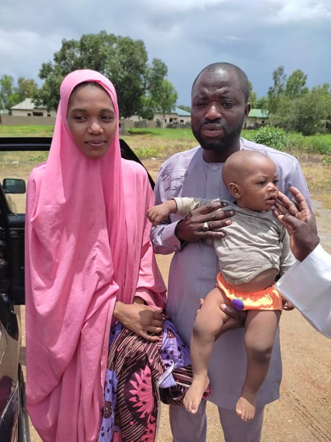 Kidnapped wife and 8-month-old son of former Zamfara councillor regain freedom (photos)