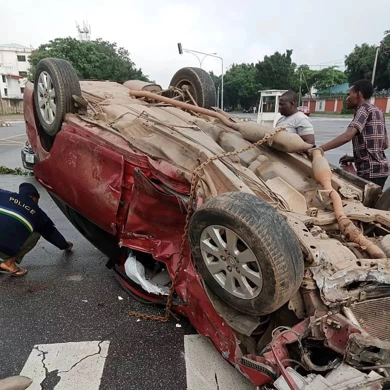 Rapper, Mr Raw survives ghastly motor accident (photos/video)