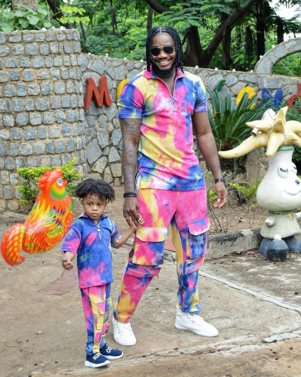Lovely photos of reality TV star, Praiz and his son, Jamie