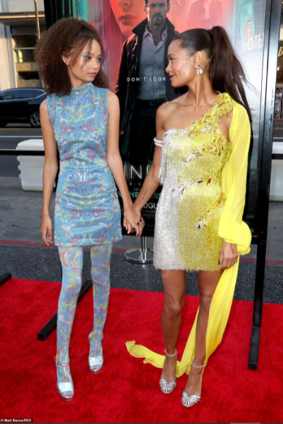 Thandiwe Newton and her lookalike actress daughter Nico Parker, 16, turn heads at Hollywood premiere of Reminiscence (photos)