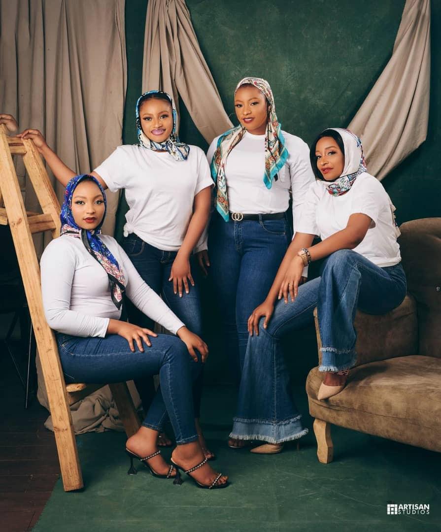 Lovely photos of actress, Rahama Sadau, and her stunning sisters