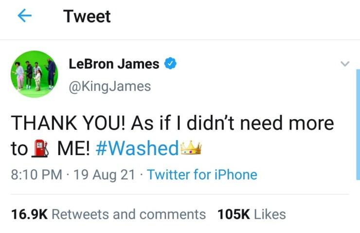 LeBron James left