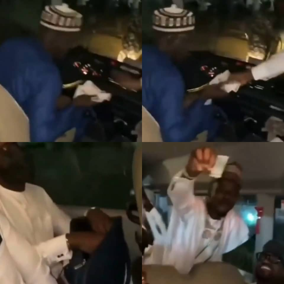 Yusuf Buhari's groomsmen contribute over N500k as gift to driver who drove them to the wedding dinner (video)