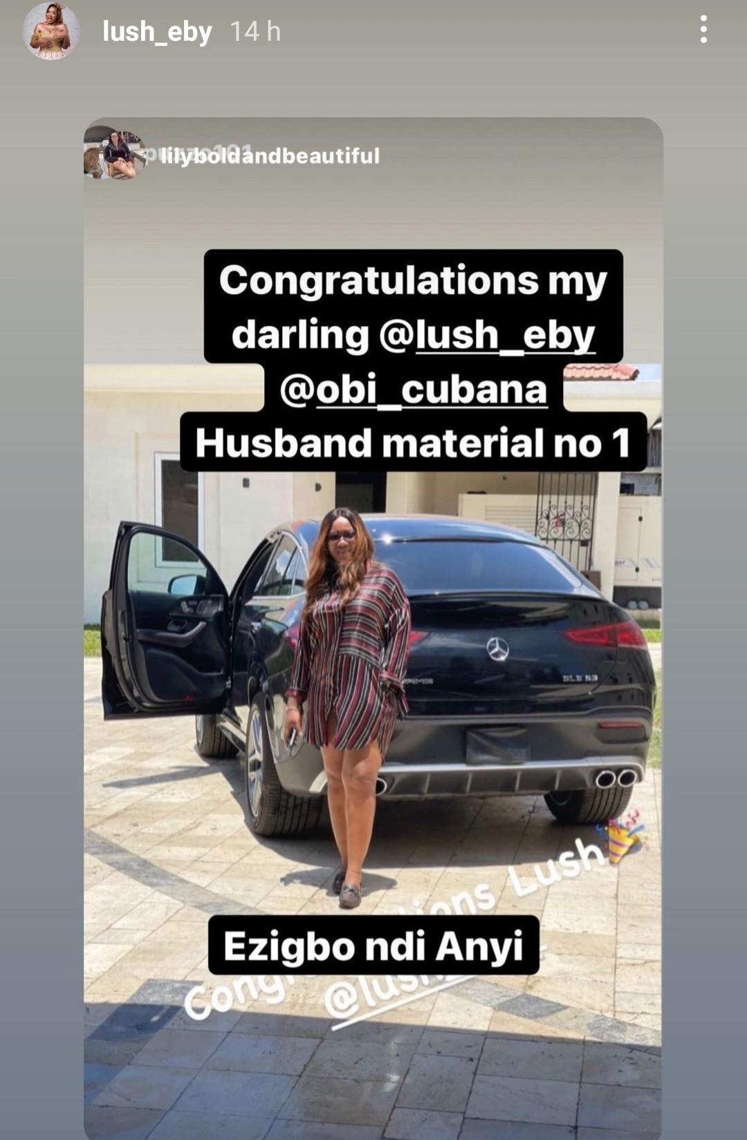 Obi Cubana gifts wife Ebele Iyiegbu a 2021 Mercedes-Benz GLE53