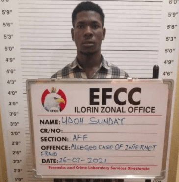 20-year-old who defrauded American of $500 on Facebook jailed for one year in Kwara