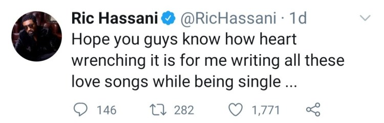 Ric Hassani talk about his struggles with finding love as he reveals he