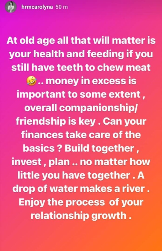 Money in excess is important to some extent. Overall companionship and friendship is key