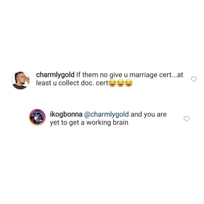 Crashed engagement: IK Ogbonna replies troll who mocked his best friend, Alex Ekubo