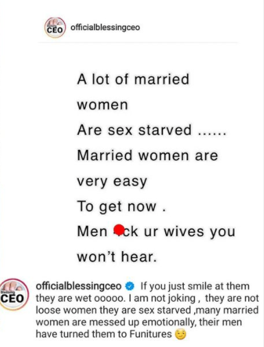 A lot of married women are sex starved - Relationship expert, Blessing Okoro