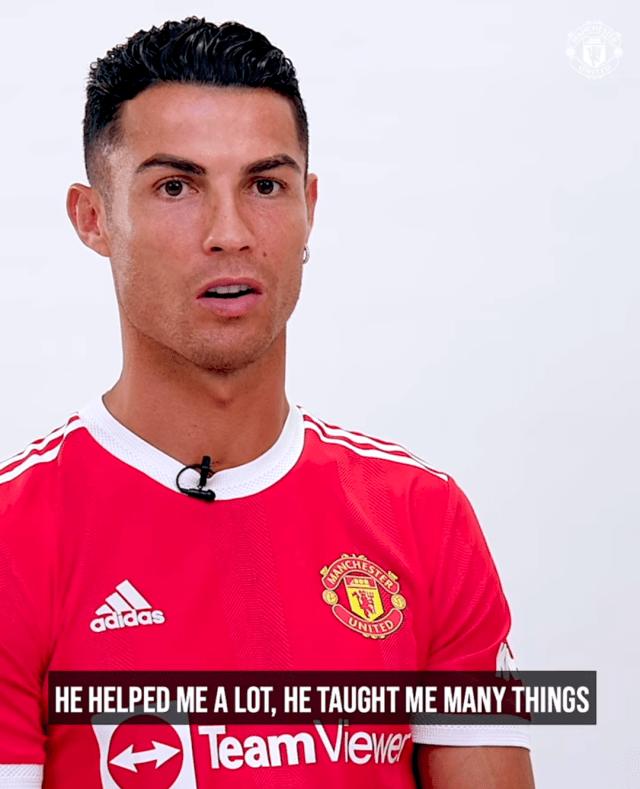 Cristiano Ronaldo explains his son-father relationship with Sir Alex Ferguson in his first interview since re-signing for Manchester United (Video)