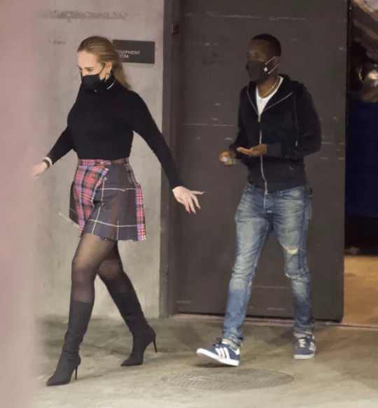 Adele pictured on a date night with boyfriend, Rich Paul