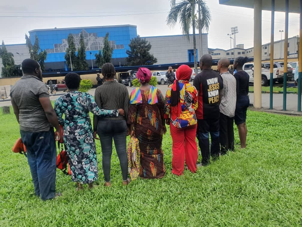 Police parade suspected sea pirate arrested over kidnap of 8 boat passengers in Rivers