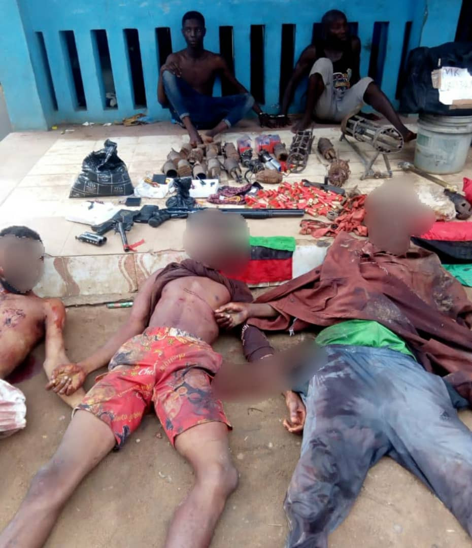 IPOB/ESN commander killed in Imo, 16 IEDs recovered (photo)