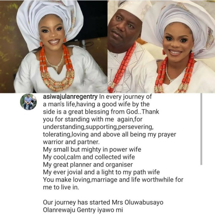 Mercy Aigbe?s ex-husband, Lanre Gentry hails his new wife as he weds again