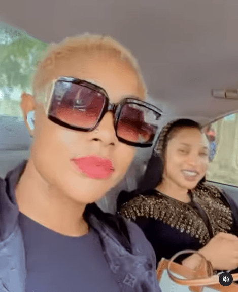 Tonto Dikeh and Angela Okorie sing Ric Hassani?s 'Thunder fire you' weeks after her relationship ended on grounds of cheating