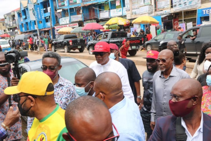Governor Obiano leads protest against IPOB sit-at-home order (photos)
