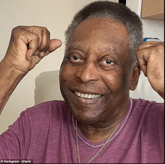 Football legend Pele jokes he is ready to 'play 90 minutes ' as heleaves intensive care unit following surgery to remove colon tumour