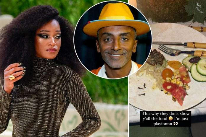 Met Gala chef defends menu after Keke Palmer?s negative food review