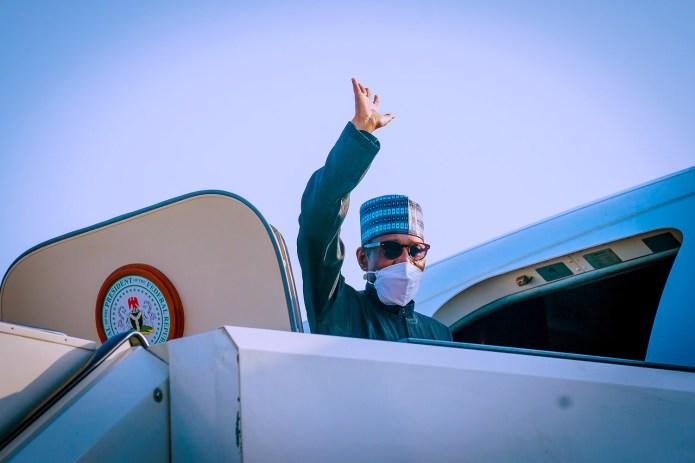 President Buhari departs Abuja for New York (photos)