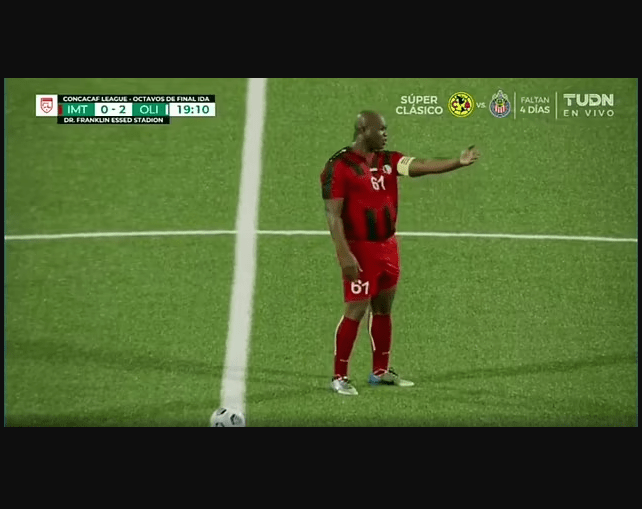 Vice president of Suriname, 60, plays for a team he owns in CONCACAF league fixture but couldn