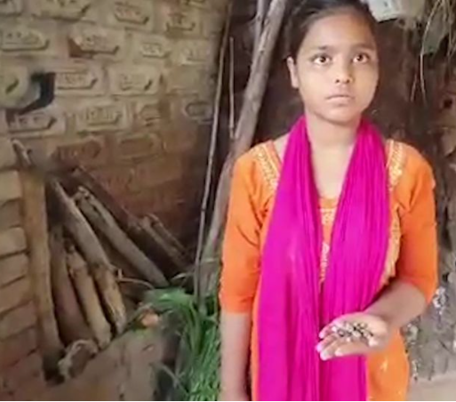 Doctors baffled as girl cries stone tears from one eye