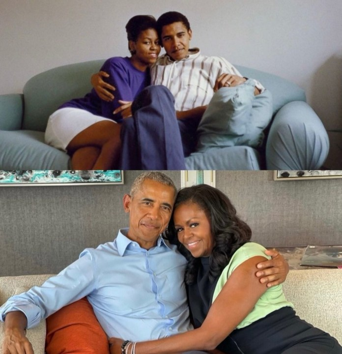 Barack and Michelle Obama declare their love for each other as they mark 29th wedding anniversary