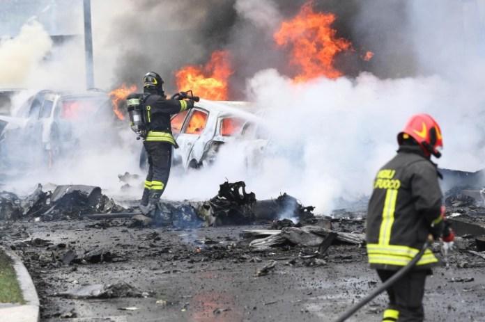 Romanian billionaire, Dan Petrescu killed alongside wife, son and five others in Milan plane crash (photos)