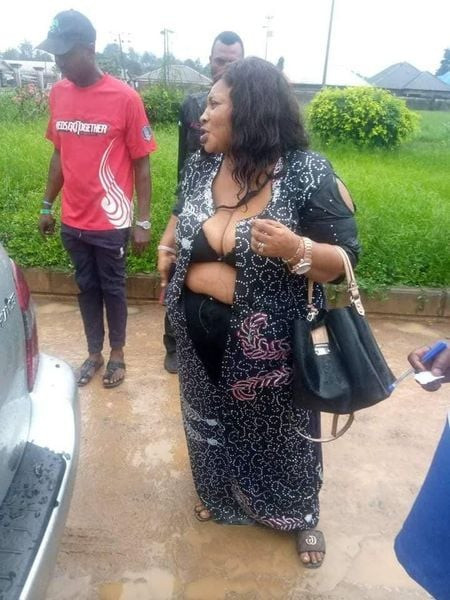 Thugs beat and almost strip naked female councilor in Rivers state (photos)