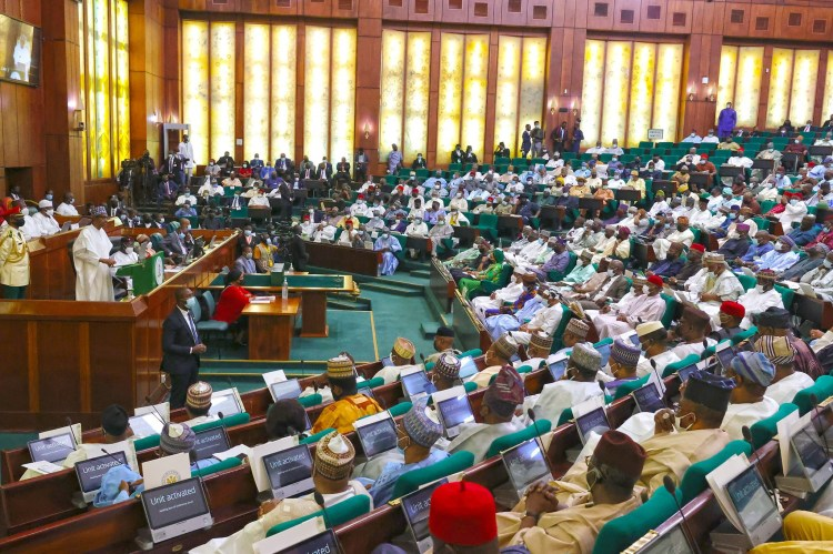 Photos from the presentation of the 2022 budget to a joint session of the National  Assembly by President Buhari