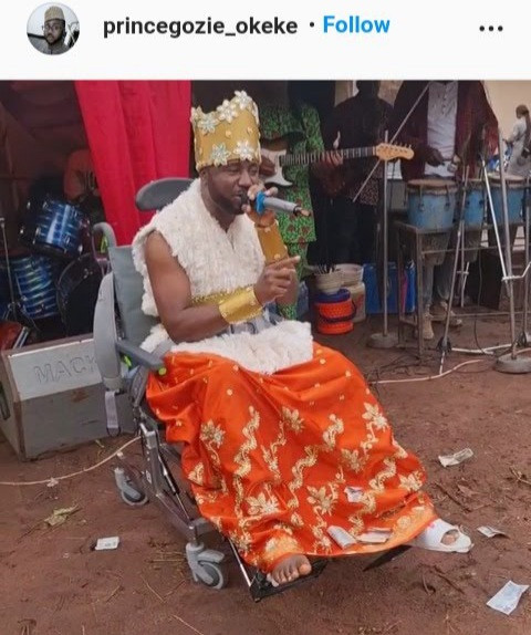 Gospel singer Gozie Okeke performs in a wheelchair as he thanks fans for their prayers after suffering a series of health problems (photos)