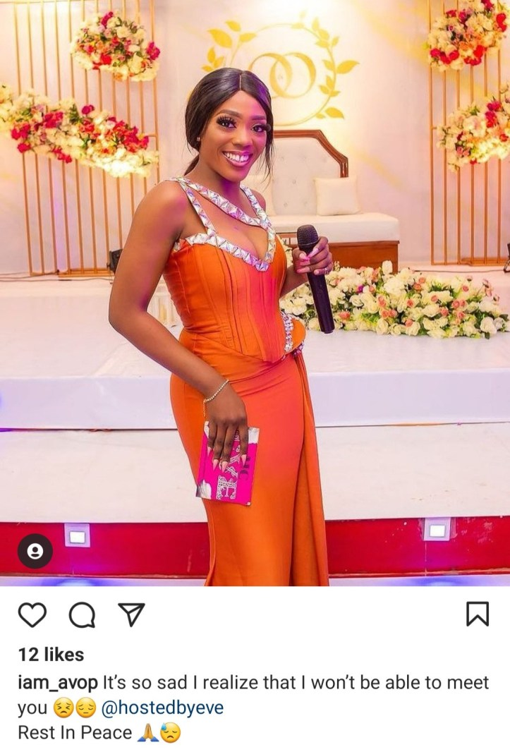 Nigerians mourn as fast-rising compere, MC Eve dies in a car crash in Lagos