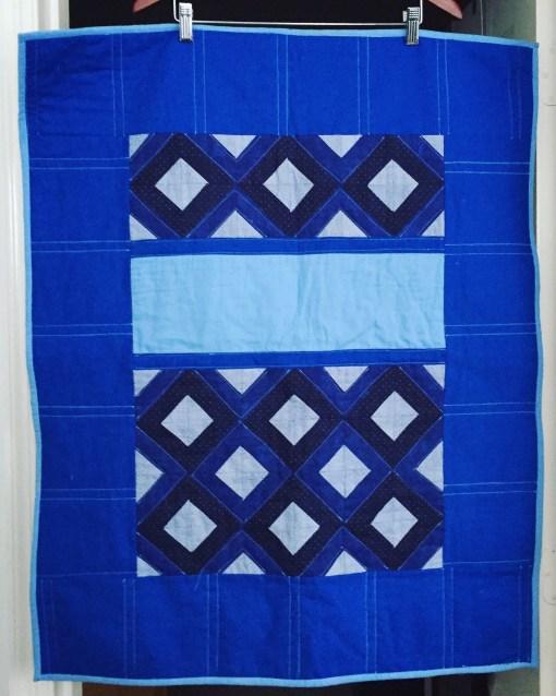 Modern Baby Blue Quilt