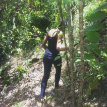 """Alexis Chateau """"Hiking"""" on Family Property in Jamaica"""